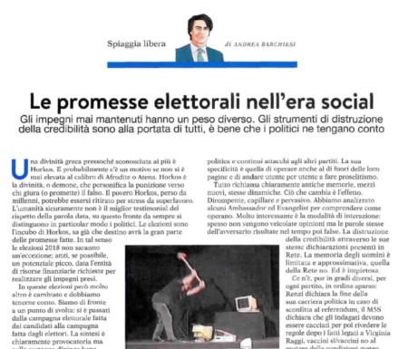 Le promesse elettorali nell'era social