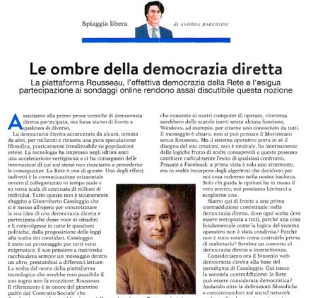 Le ombre della democrazia diretta