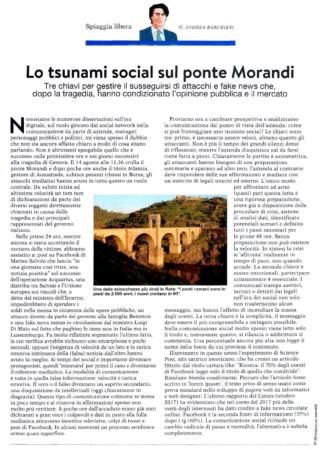 Lo tsunami social sul ponte Morandi