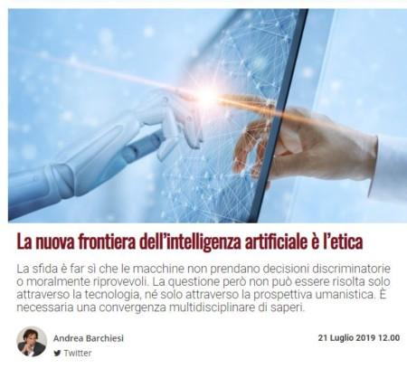 La nuova frontiera dell'intelligenza artificiale è l'etica