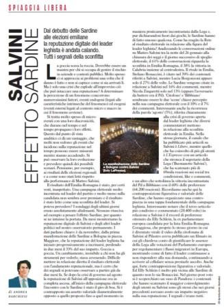 Salvini. Effetto Sardine