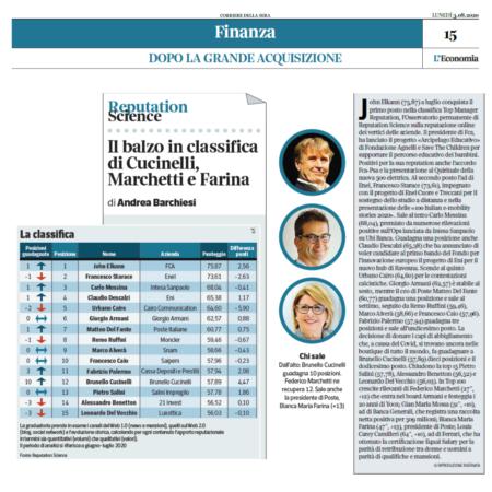Sul podio Elkann, Starace e Messina: la classifica Top Manager Reputation a luglio