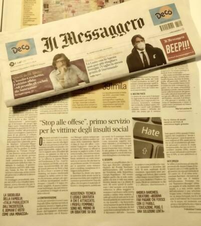 """""""Stop alle Offese"""", primo servizio per le vittime di insulti social: intervista a Il Messaggero"""
