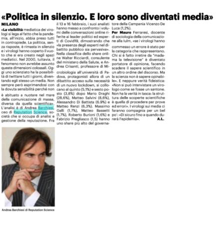 """""""Politica in silenzio. E loro sono diventati media"""": intervista su Il Giorno."""
